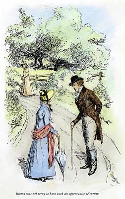 Dirt Roads Drawing - Austen Emma, 1896 by Granger