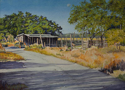 Painting - Austin Back Country by Mary Dove