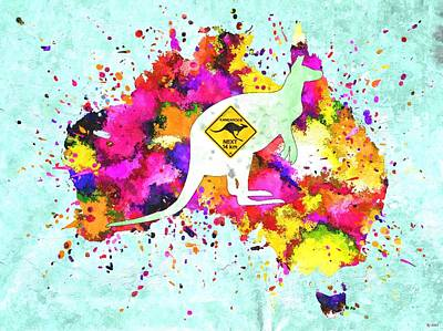 Kangaroo Mixed Media - Australia by Daniel Janda