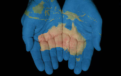 Australia In Our Hands Art Print