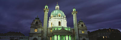 Austria, Vienna, Facade Of St. Charles Art Print by Panoramic Images