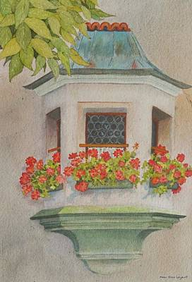 Painting - Austrian Window by Mary Ellen Mueller Legault