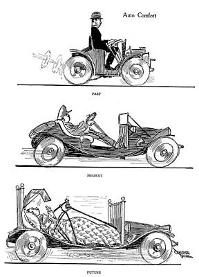 Comfort Painting - Automobile Cartoon, 1914 by Granger