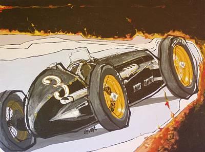 Automobile Racing Print by Paul Guyer