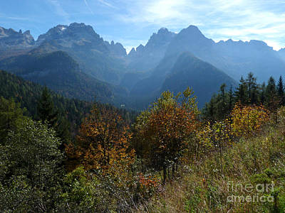 Photograph - Autumn - Brenta Dolomites by Phil Banks