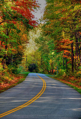 Digital Art - Autumn Drive by Kelvin Booker