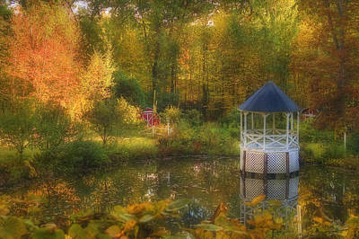 Autumn Scene Photograph - Autumn Gazebo by Joann Vitali