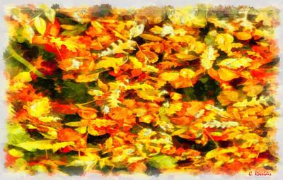 Flowers Painting - Autumn Leaves 2 by George Rossidis