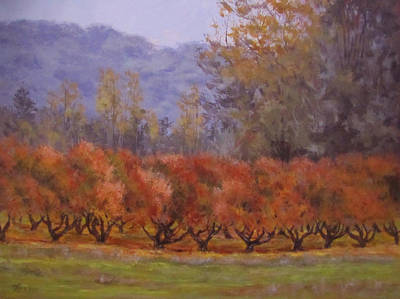 Painting - Autumn Orchard by Karen Ilari