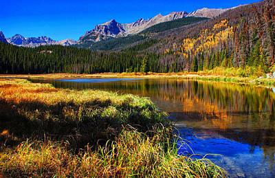 Mountain Reflection Lake Summit Mirror Photograph - Autumn Reflections by Brian Kerls
