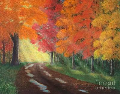 Painting - Autumn Road by Marlene Little
