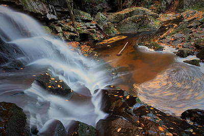 West Virginia Photograph - Autumn Swirls At Elakala Falls In West Virginia by Jetson Nguyen