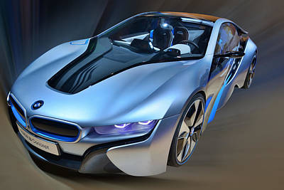 Photograph - B M W  I8  Concept  2014 by Dragan Kudjerski