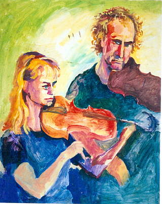 Painting - B02. Duet Players by Les Melton