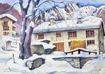 Painting - B02  Ticino Ch by Les Melton