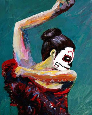 Painting - Bailan De Los Muertos by Frank Botello