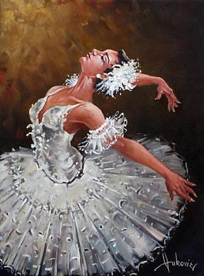 Figurativ Painting - Ballerina by Dusan Vukovic