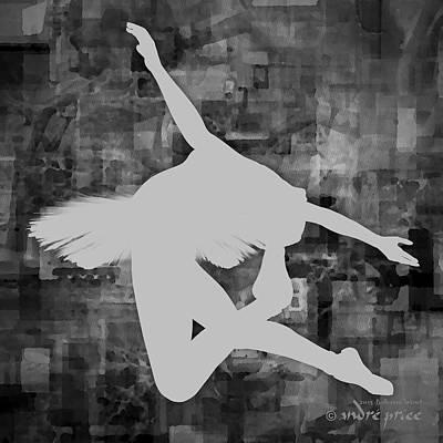 Ballerina Silhouette - Ballet Move 4 Art Print