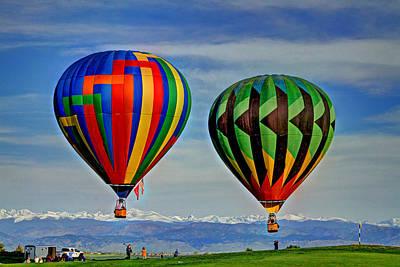 Photograph - 2 Balloons by Scott Mahon
