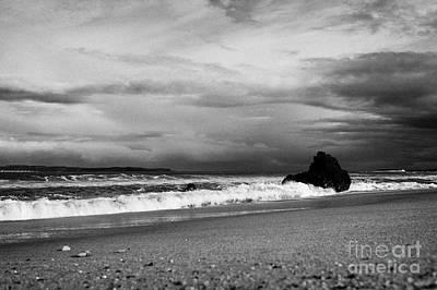 Ballycastle Beach In Winter County Antrim Northern Ireland Art Print by Joe Fox
