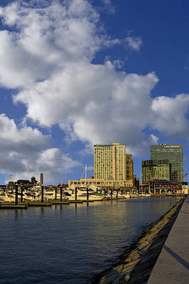 Photograph - Baltimore Inner Harbor Skyline Marina by Susan Candelario