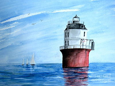 Painting - Baltimore Lighthouse  by Nancy Patterson