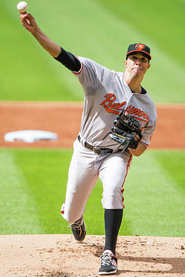 Photograph - Baltimore Orioles V Cleveland Indians by Jason Miller