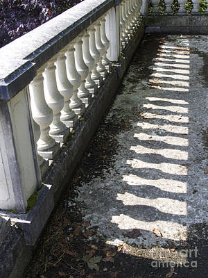 In A Row Photograph - Balustrade by Bernard Jaubert