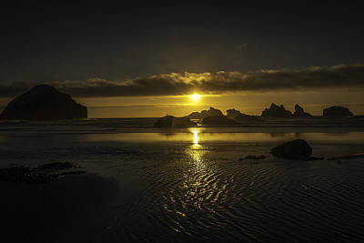 Bandon State Park Art Print by Jean-Jacques Thebault