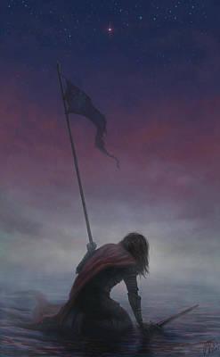 Banner Of Hope Print by Katerina Romanova