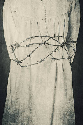 Barbwire Photograph - Barbed Wire by Joana Kruse