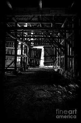 Wood Panel Photograph - Tobacco Barn Interior by HD Connelly
