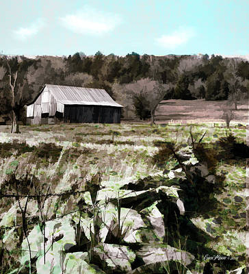Photograph - Barn In The Field by Ericamaxine Price