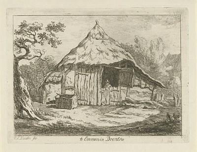 Old Barn Drawing - Barn With Open Upper Door, Carel Lodewijk Hansen by Artokoloro