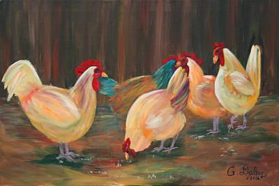 Painting - Barnyard Ballet by Gail Daley