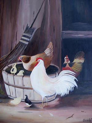 Painting - Barnyard by Glenda Barrett