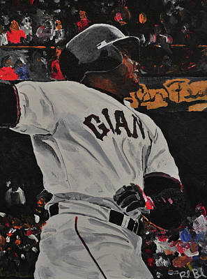 Barry Bonds Painting - Barry Bonds World Record Breaking Home Run by Ruben Barbosa