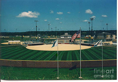 Baseball Diamond Art Print