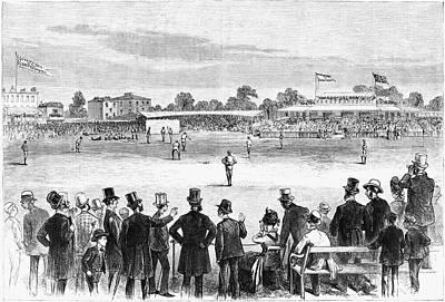 Batter Painting - Baseball England, 1874 by Granger