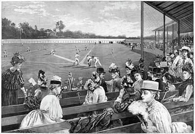 Baseball Painting - Baseball Game, 1889 by Granger