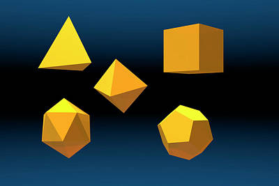Platonic Photograph - Basic Geometric Solids by Carol & Mike Werner