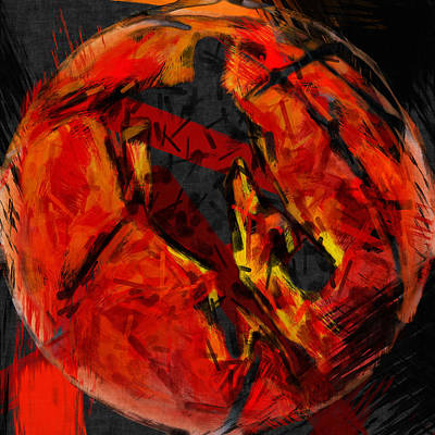 Basketball Abstract Art Print by David G Paul