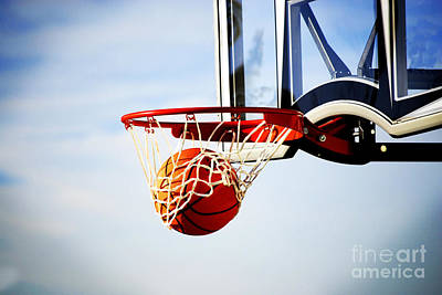 Basketball Shot Art Print by Lane Erickson