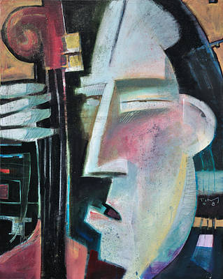 Bassist Painting - Bass Face by Tim Nyberg