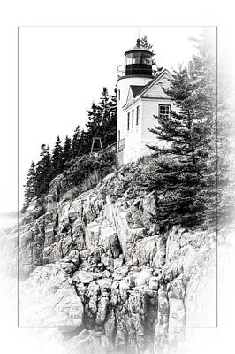 Photograph - Bass Harbor Light In Black And White by David Birchall
