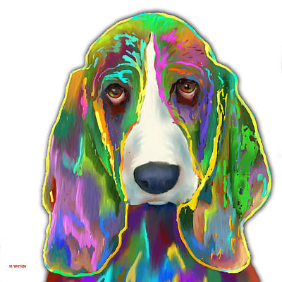 Digital Art - Basset Hound by Marlene Watson