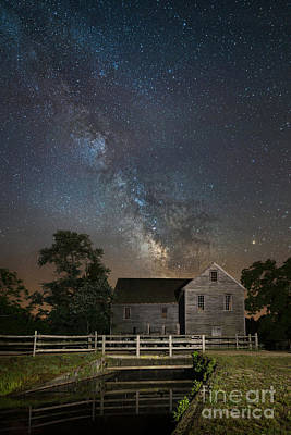 Batsto Village Saw Mill Milky Way Original by Michael Ver Sprill