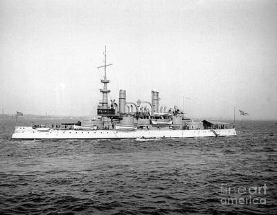 Photograph - Battle Ship Indiana by William Haggart