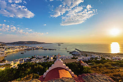 Mykonos Photograph - Bay Of Mykonos, Greece by Deimagine