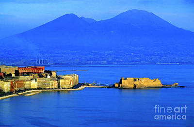 Townscape Digital Art - Bay Of Naples by Sami Sarkis